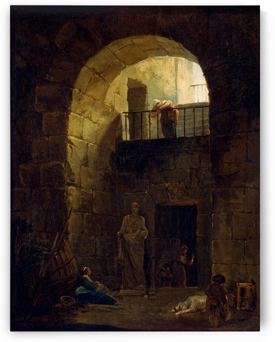 Neglected Statue by Hubert Robert