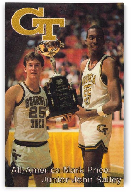 1984 Georgia Tech Retro Basketball Poster by Row One Brand