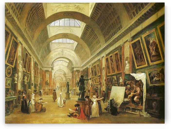 Project of art at Grande Galerie du Louvre, 1796 by Hubert Robert