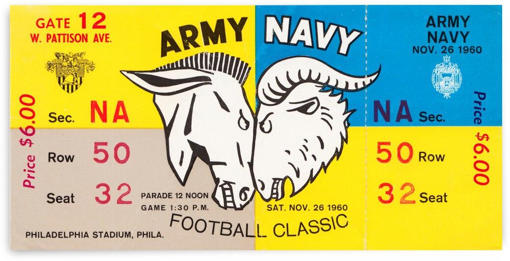 1960 Army vs. Navy Football Ticket Canvas by Row One Brand