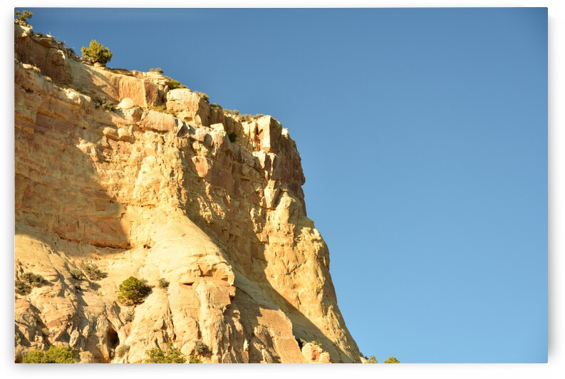 Rock Face Against Blue Sky  by PieLar Inspirations