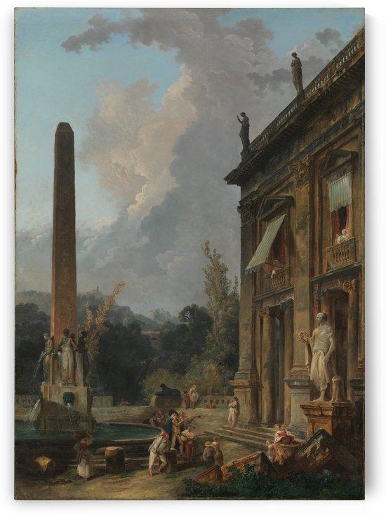 Wandering Minstrels by Hubert Robert