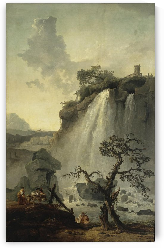Landscape with a Waterfall by Hubert Robert