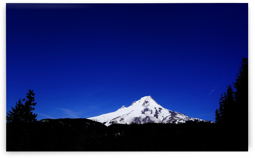 Mount Hood in the Waning Light of Day - Oregon Columbia River Gorge by 24