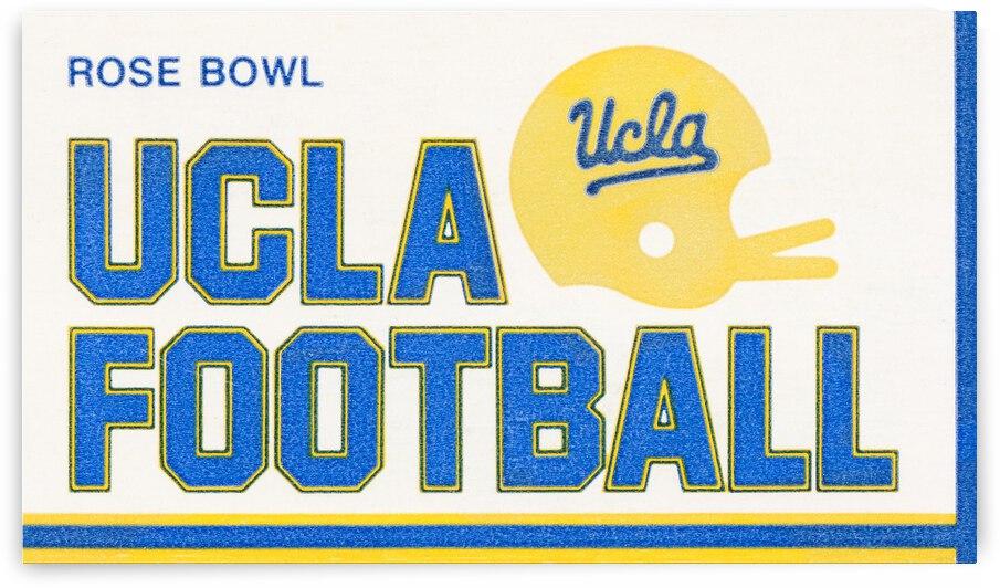 1986 UCLA Bruins Football Ticket Stub Art by Row One Brand