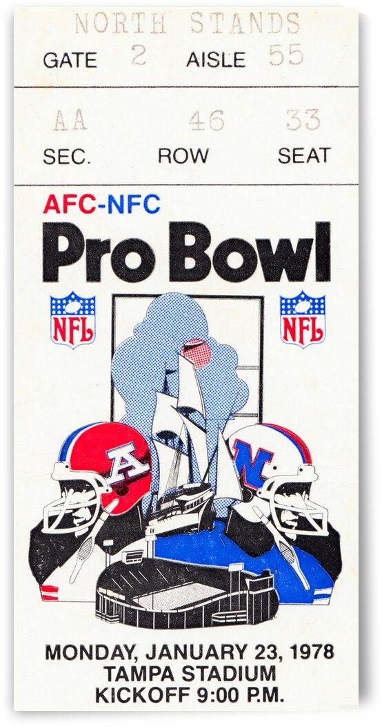 1978 NFL Pro Bowl Ticket Stub Canvas by Row One Brand