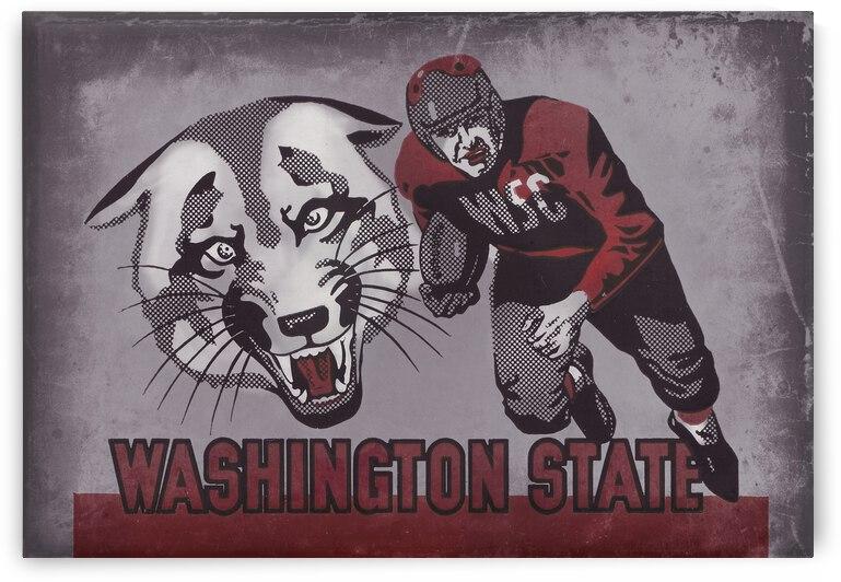 1950 Washington State Vintage Football Art by Row One Brand