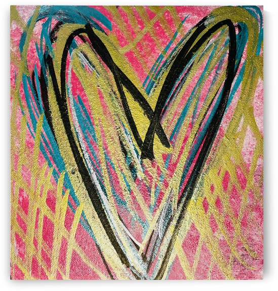 **ACRYLIC PAINTING** - Abstract Heart 1 by Lisa Shavelson