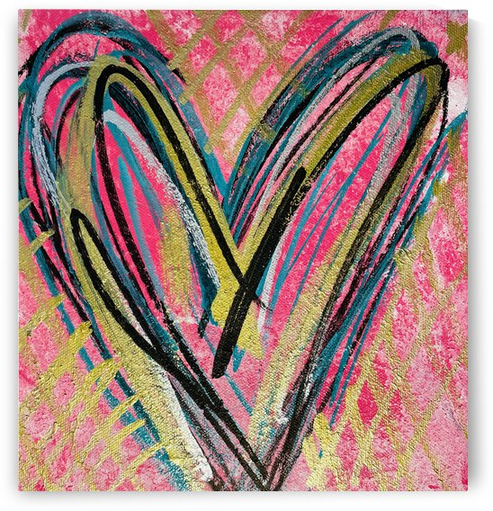 **ACRYLIC PAINTING** - Abstract Heart 2 by Lisa Shavelson