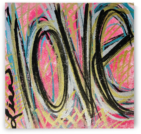 **ACRYLIC PAINTING** - Abstract Love by Lisa Shavelson
