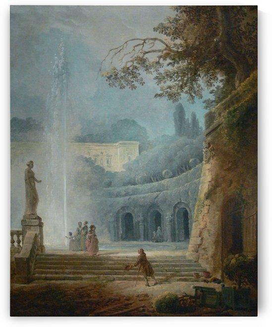 The Fountain Kimbell by Hubert Robert