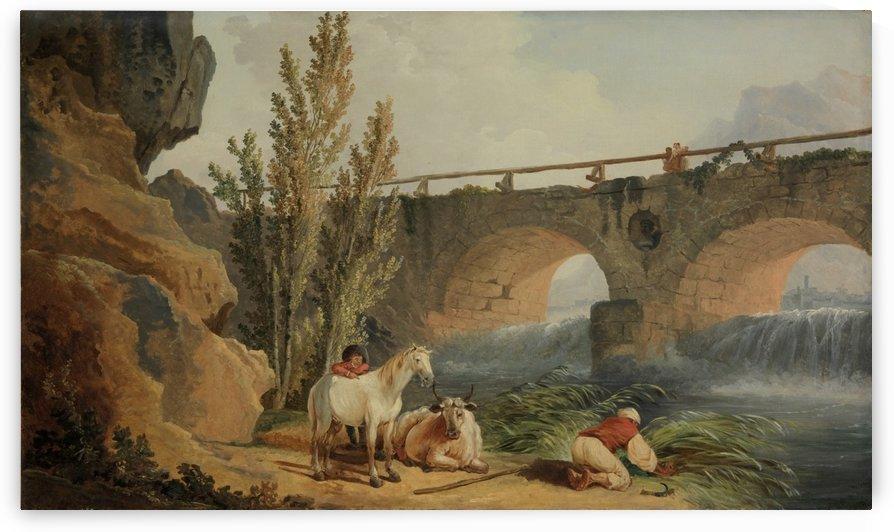 Bridge over a Cascade by Hubert Robert