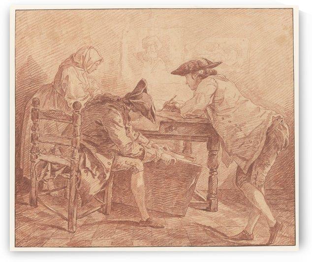 Young Artists in the Studio by Hubert Robert