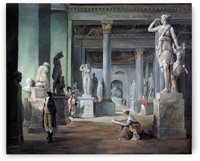 Salle des Saizons at Louvre Museum by Hubert Robert