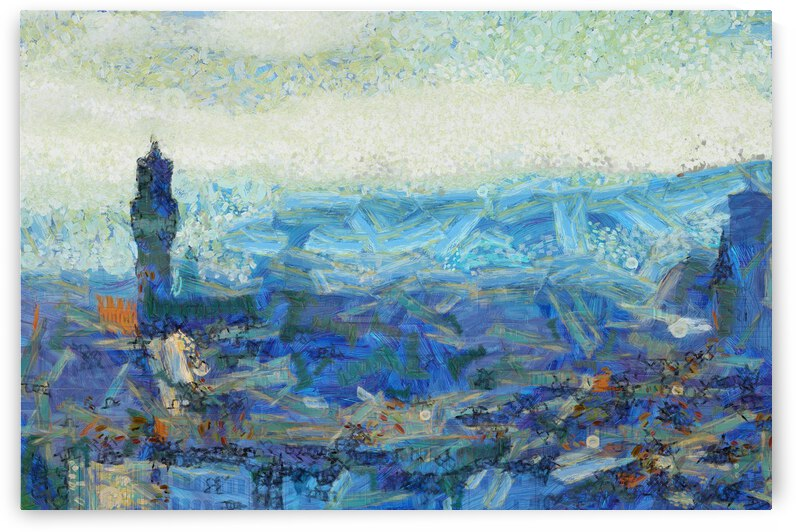 ITALY FLORENCE CITY OIL PAINTING IN Vincent van Gogh style.  by ArtEastWest