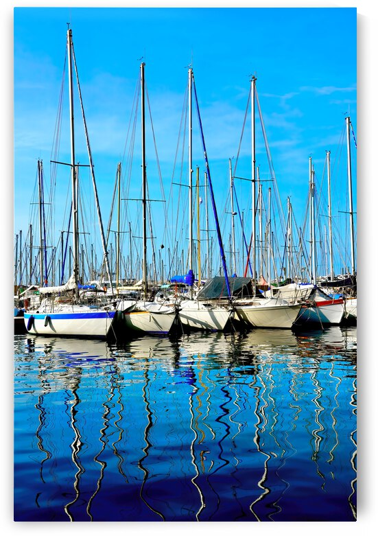 Shimmering Masts 2 ... Cannes  France by Fred J Bivetto