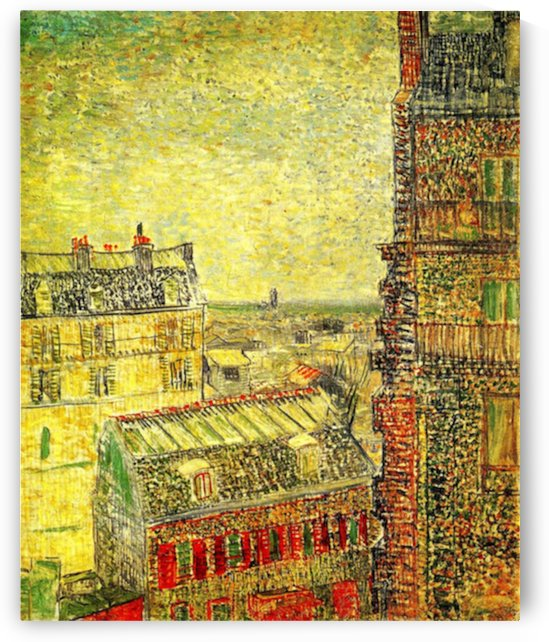 View of Paris from Vincent s Room in the Rue Lepic by Van Gogh by Van Gogh