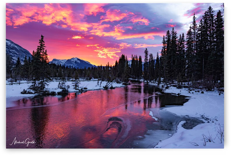 Sunrise On Policemans Creek by Mike Gould Photoscapes