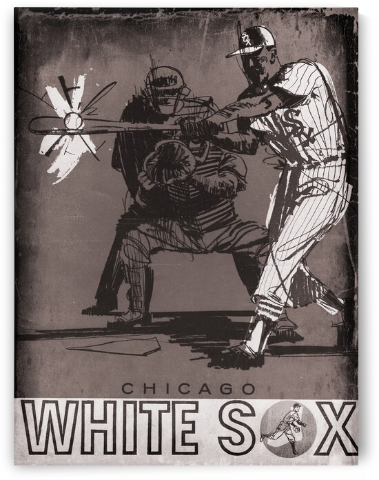 Vintage Chicago White Sox Metal Sign by Row One Brand