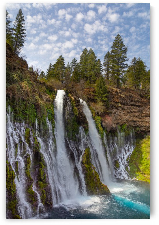 Burney Falls with Clouds by Nicholas