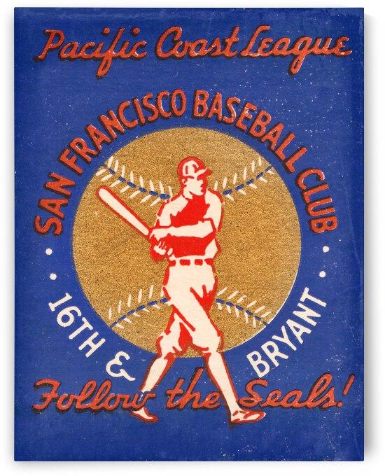 1941 San Francisco Seals Baseball Art  by Row One Brand