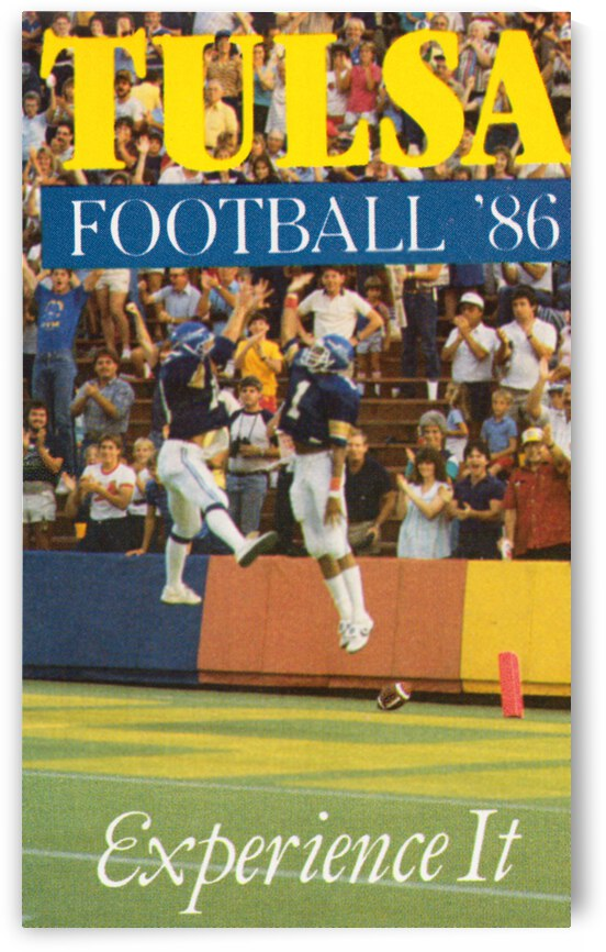 1986 Tulsa Football Poster by Row One Brand