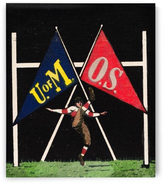 1935 Michigan vs. Ohio State Vintage Football Art by Row One Brand