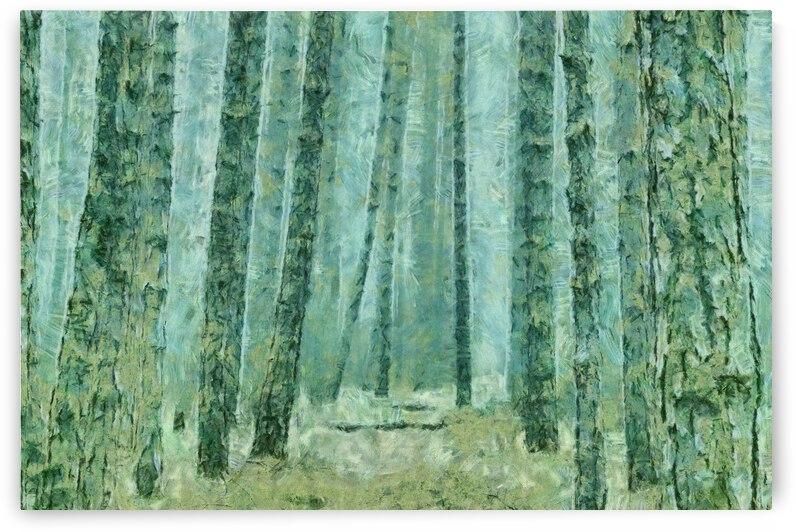JUNGLE IN FOG OIL PAINTING IN OSCAR-CLAUDE MONET STYLE. 59. by ArtEastWest