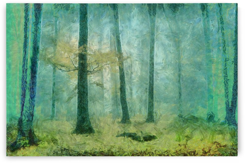 JUNGLE IN FOG OIL PAINTING IN OSCAR-CLAUDE MONET STYLE. 61  by ArtEastWest