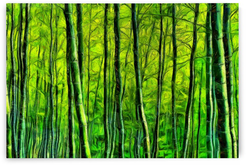 Bamboo forest oil painting inVincent Willem van Goghstyle. 5 by ArtEastWest