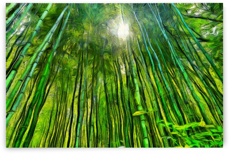 Bamboo forest oil painting inVincent Willem van Goghstyle. 30. by ArtEastWest