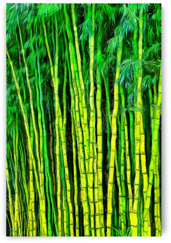 Bamboo forest oil painting inVincent Willem van Goghstyle. 32. by ArtEastWest