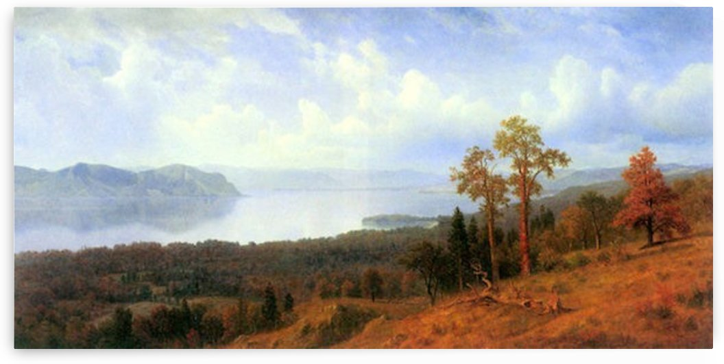 View of the Hudson River Vally by Bierstadt by Bierstadt
