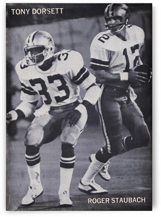 1977 Dallas Cowboys Stars Staubach and Dorsett by Row One Brand