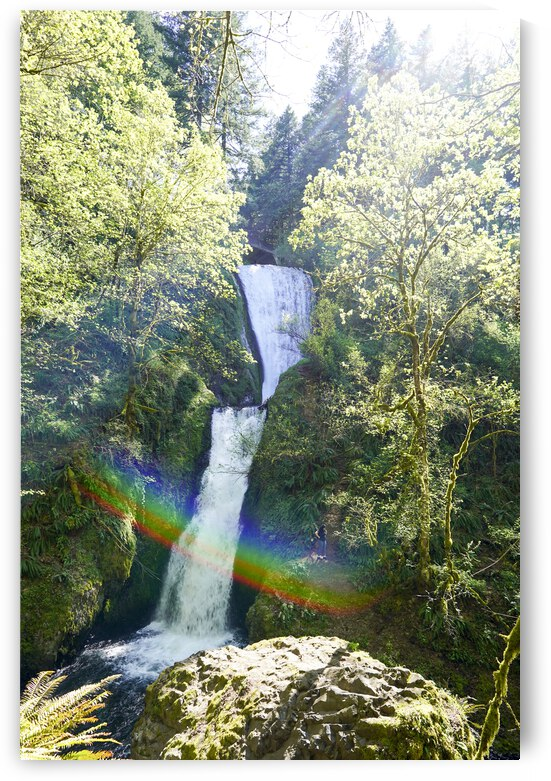 Bridal Veil Falls Bathed in Sunlight and Rainbows by 360 Studios