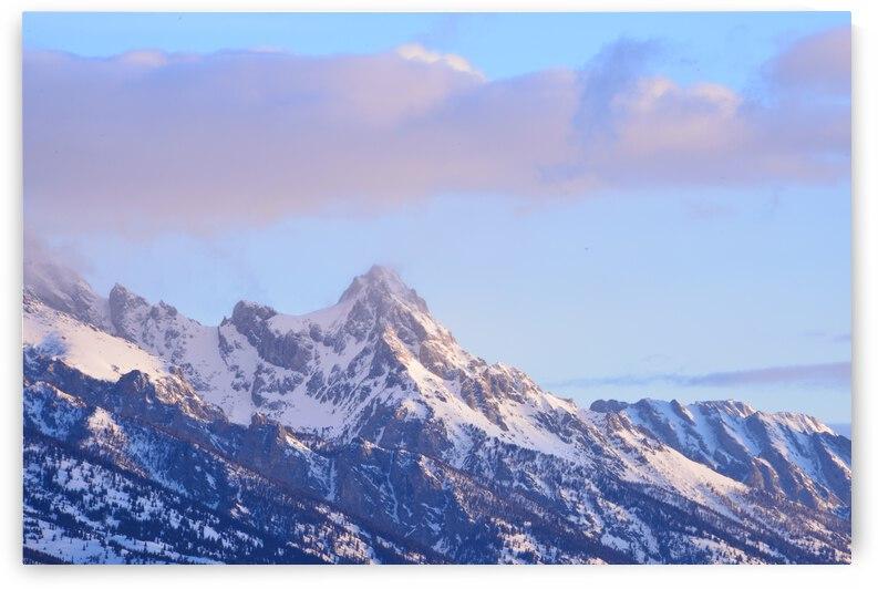 Calm Sunrise Against Grand Tetons by PieLar Inspirations
