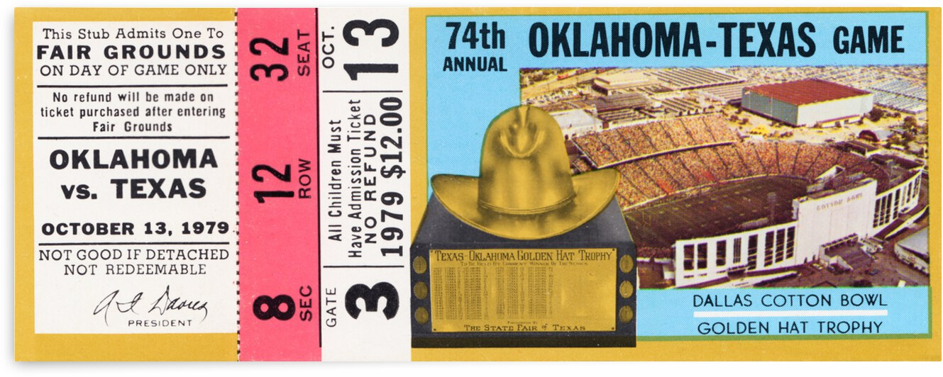 1979 Oklahoma Sooners vs. Texas Longhorns by Row One Brand