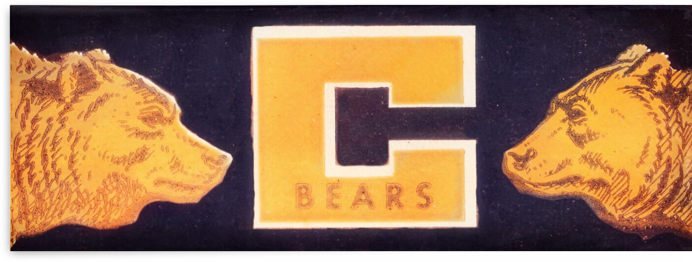 1957 Cal Bears Vintage Art by Row One Brand