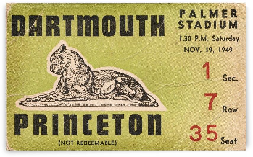 1949 Dartmouth vs. Princeton Football Ticket Canvas by Row One Brand