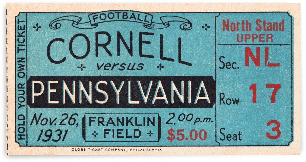 1931 Cornell vs. Penn Football Ticket Stub Canvas by Row One Brand