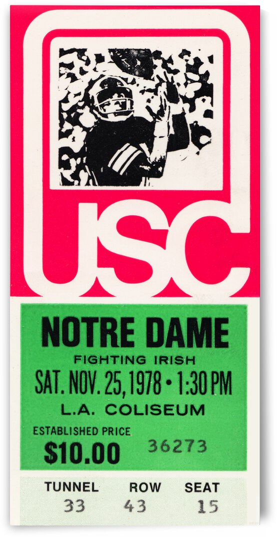 1978 USC vs. Notre Dame by Row One Brand