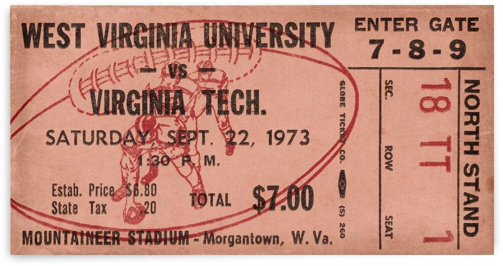 1973 West Virginia vs. Virginia Tech by Row One Brand