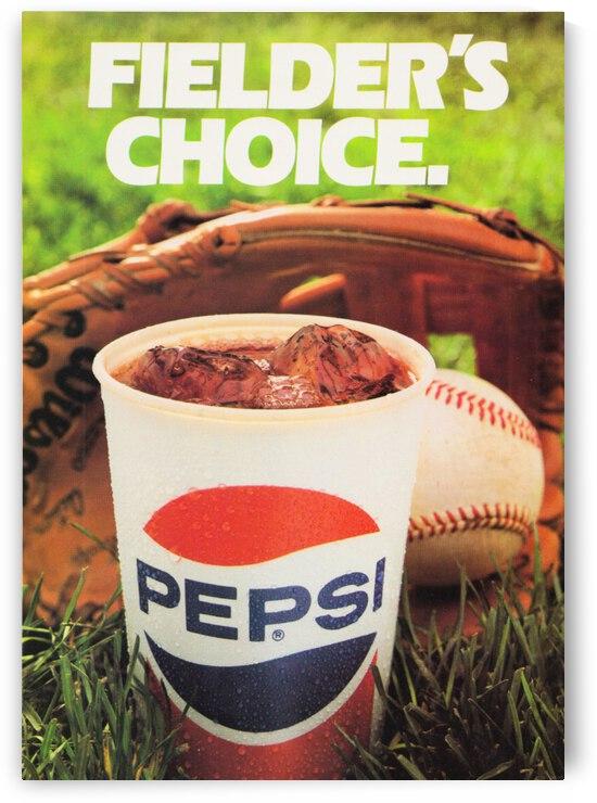 Retro Pepsi Baseball Ad by Row One Brand