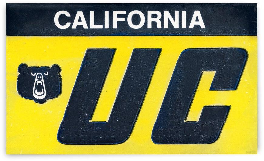 1978 California Bears Ticket Art Remix by Row One Brand