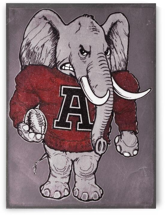 Vintage Alabama Football Art by Row One Brand