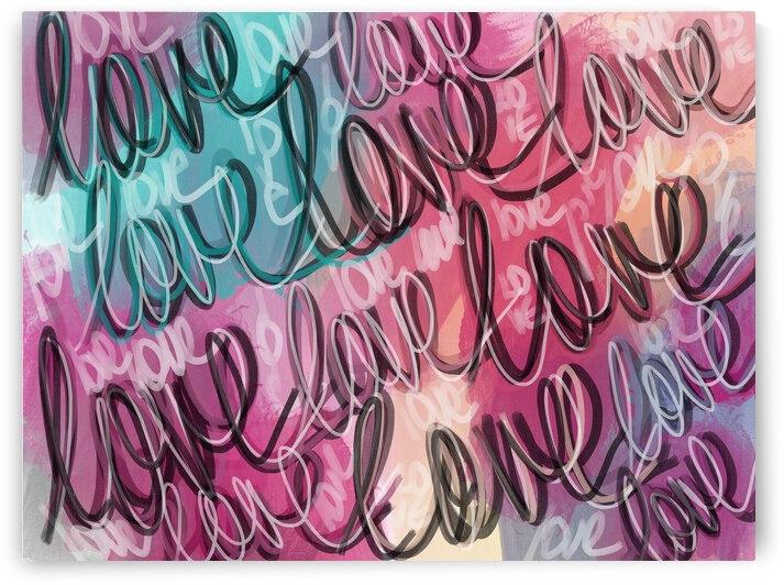 DIGITAL ILLUSTATUON - Script Love by Lisa Shavelson