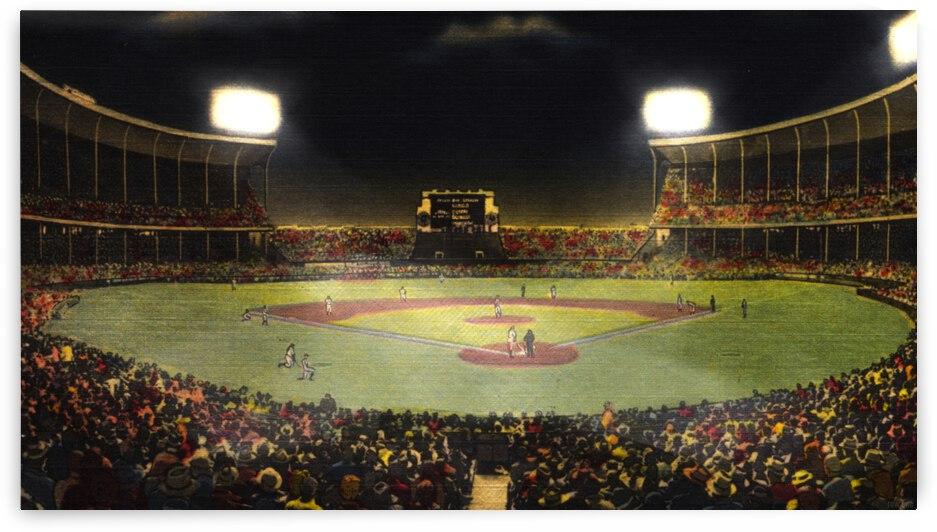 1940 Cleveland Stadium Art by Row One Brand