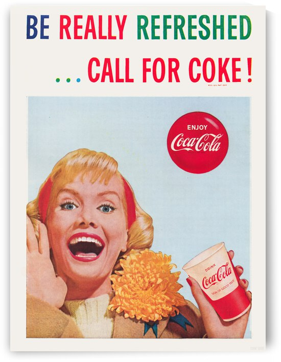 1961 Coca-Cola Vintage Advertisement Poster by Row One Brand