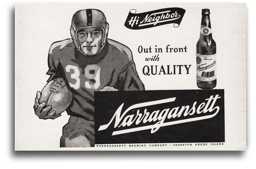 1946 Narragansett Beer Ad Poster by Row One Brand