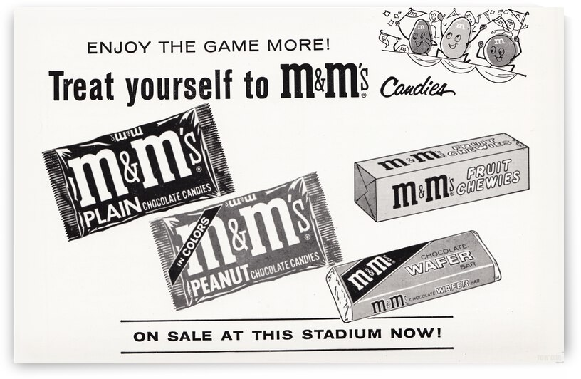 1963 MM Candy Advertisement Poster by Row One Brand
